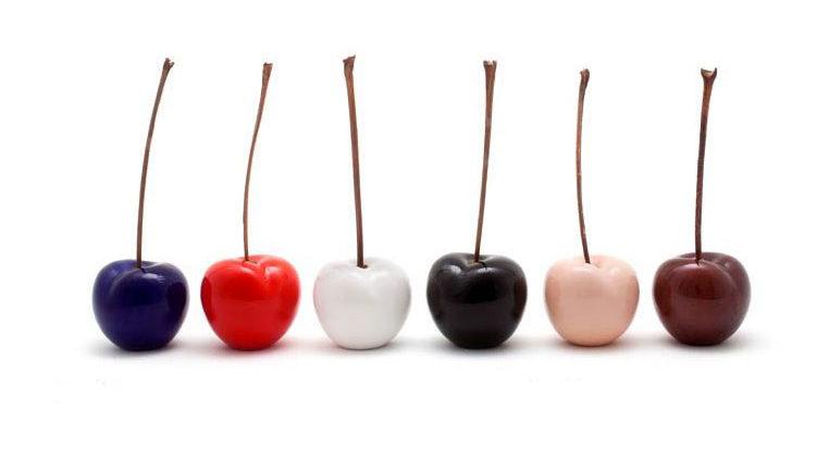 ceramic-cherry-sculpture-glazed
