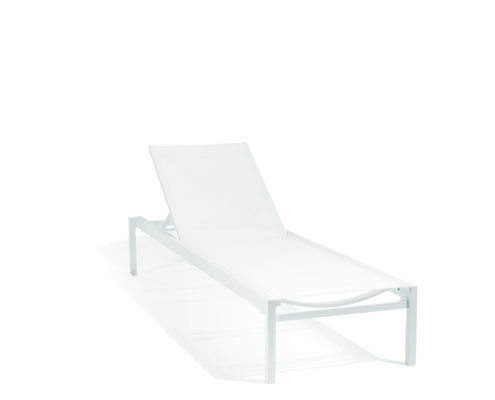 chaise longue alexa blanche diphano