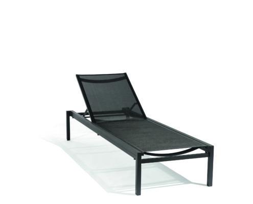 chaise longue alexa noir diphano