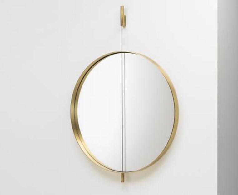 Galileo-miroir laiton living divani