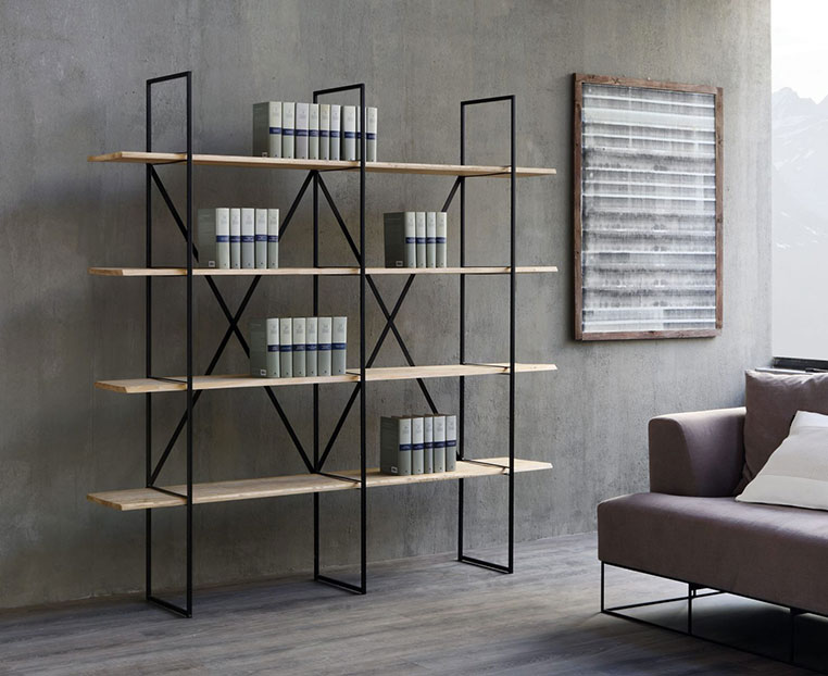 slim irony bookcase
