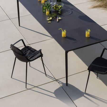 table fine céramique aluminium