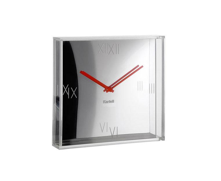tic-et-tac-horloge-kartell-chrome