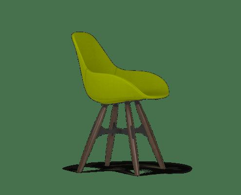 zigzag coque cuir green