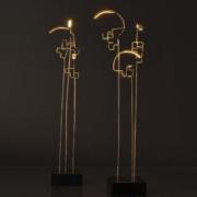 lampe sans fil en laiton boucle